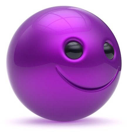 blue smiling: Smile face head ball cheerful sphere emoticon cartoon smiley happy decoration cute purple blue. Smiling funny joyful person laughing joy character toy good avatar. 3d render isolated