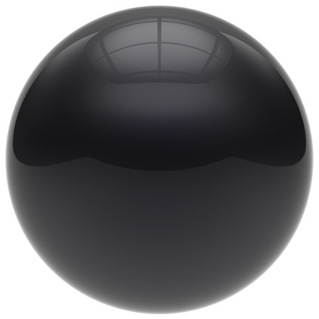 basic figure: Sphere button round ball black geometric shape basic circle solid figure simple minimalistic element single drop dark shiny glossy sparkling object blank balloon atom icon. 3d render isolated