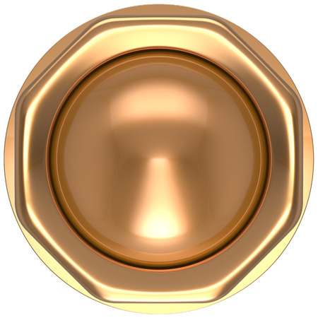 activate: Button gold casino luck game win start turn off on action push down activate ignition power switch electric design element metallic shiny blank golden yellow luxury. 3d render isolated
