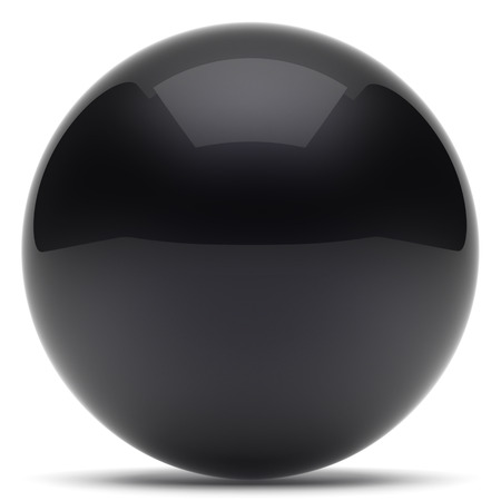 basic figure: Sphere ball geometric shape button round basic circle solid figure simple minimalistic element single black dark shiny glossy sparkling object blank balloon atom icon. 3d render isolated