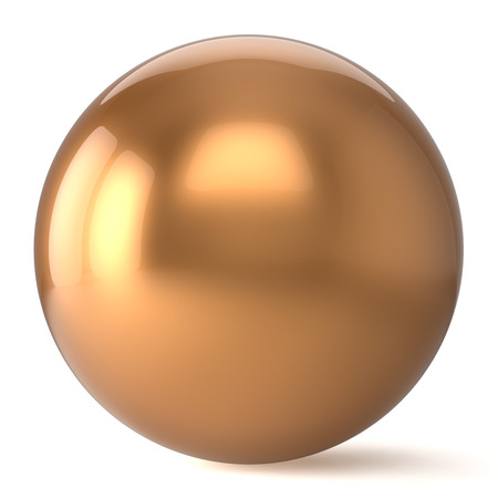 basic shapes: Sphere button round golden yellow ball geometric shape basic circle solid figure simple minimalistic atom element single shiny glossy sparkling object blank balloon icon. 3d render isolated