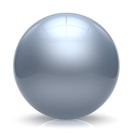 basic shapes: Sphere ball white balloon button round basic circle geometric shape solid figure simple minimalistic element single shiny glossy sparkling object blank atom icon. 3d render isolated Stock Photo