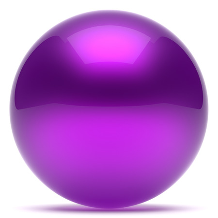 basic figure: Purple sphere ball geometric shape round button basic circle solid figure simple minimalistic element single shiny glossy sparkling object blank balloon blue icon. 3d render isolated