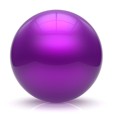 basic figure: Purple sphere ball balloon button round basic circle geometric shape solid figure simple minimalistic element single shiny glossy sparkling object blank atom icon. 3d render isolated