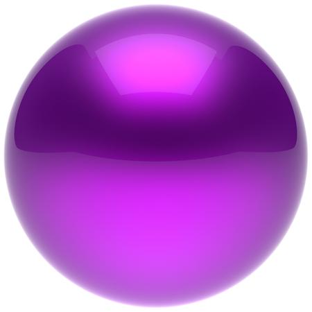Bola púrpura de la esfera azul botón círculo empuje figura burbuja sólida forma geométrica simple elemento único átomo objeto brillante brillante brillante icono en blanco minimalista globo redondo básico. 3d aislado