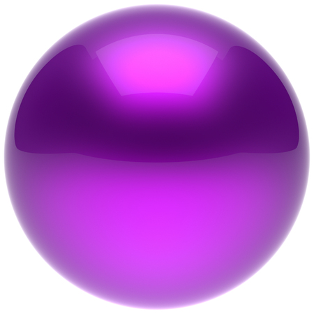 basic figure: Purple sphere ball blue push button circle round basic solid bubble figure geometric shape minimalistic simple atom element single shiny glossy sparkling object blank balloon icon. 3d render isolated Stock Photo