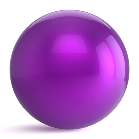 basic shape: Sphere round button purple ball geometric shape basic circle solid figure simple minimalistic atom element single drop shiny glossy blue sparkling object blank balloon icon. 3d render isolated
