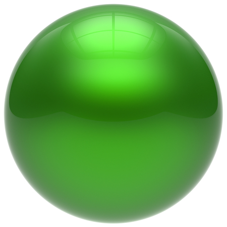 basic figure: Sphere green round ball geometric shape basic circle solid figure simple minimalistic button element single drop cyan shiny glossy sparkling object blank balloon atom icon. 3d render isolated Stock Photo