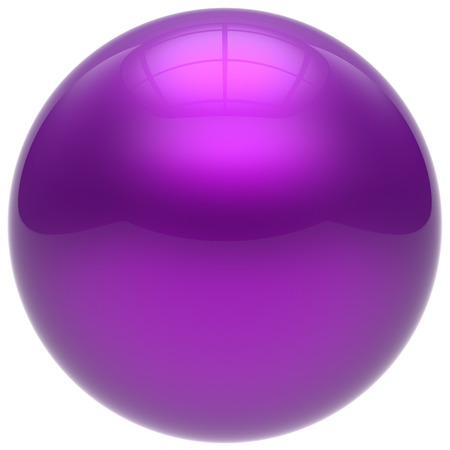 isolated object: Sphere purple round ball geometric shape basic circle solid figure simple minimalistic button element single drop cyan shiny glossy sparkling object blank balloon atom icon. 3d render isolated Stock Photo