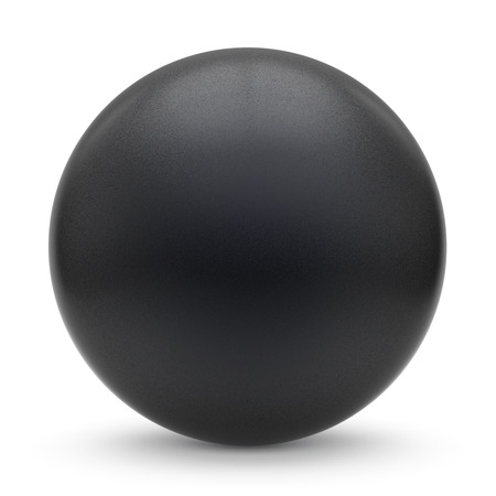 matted: Sphere round button black matted ball basic circle geometric shape solid figure simple minimalistic atom single drop object blank balloon design element empty. 3d render illustration isolated
