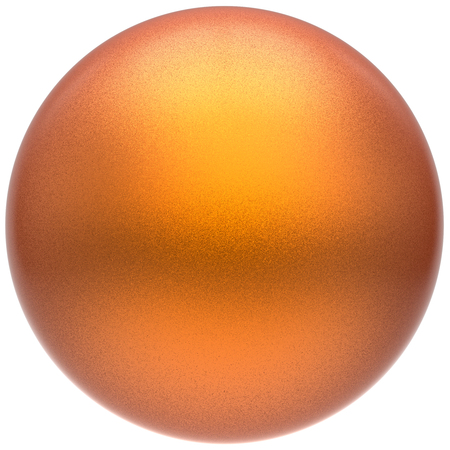 matted: Orange sphere round button ball basic matted yellow circle geometric shape solid figure simple minimalistic atom single drop object blank balloon icon design element. 3D render illustration isolated