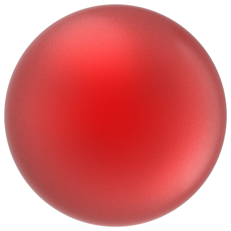 matted: Red sphere round button ball basic matted scarlet circle geometric shape solid figure simple minimalistic atom single drop object blank balloon icon design element. 3D render illustration isolated