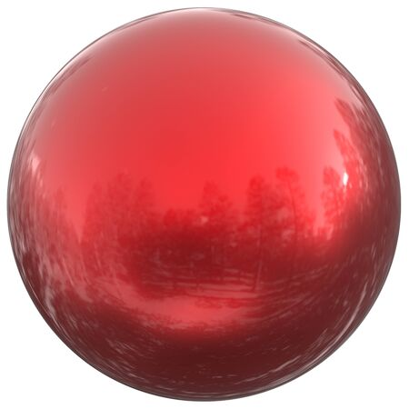 simple: Sphere round button red ball basic circle geometric shape solid figure simple minimalistic atom element single blood drop shiny clean sparkling object blank balloon. 3d illustration isolated Stock Photo