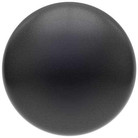 matted: Black sphere round button matted ball basic circle geometric shape solid figure simple minimalistic atom single drop object blank balloon design element empty. 3d render illustration isolated