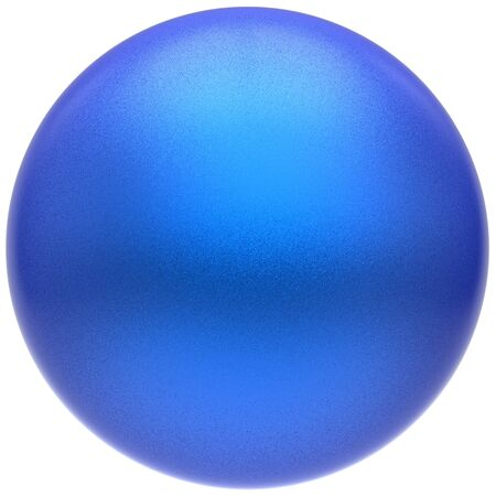 matted: Sphere round blue button ball basic matted cyan circle geometric shape solid figure simple minimalistic atom single drop object blank balloon icon design element. 3D render illustration isolated Stock Photo