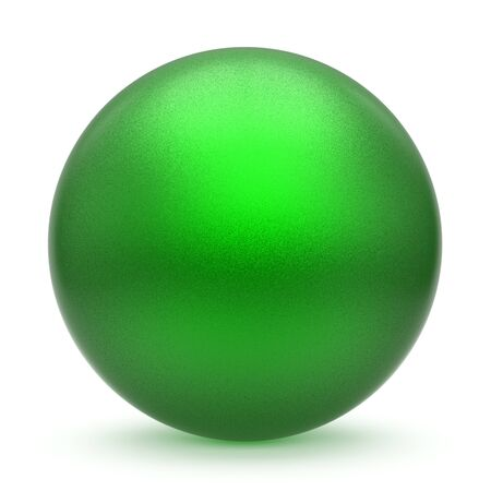 Sphere round button green matted ball basic circle geometric shape solid figure simple minimalistic atom single drop object blank balloon design element empty. 3d illustration isolated