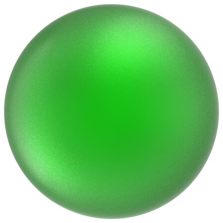 matted: Green sphere round button ball basic matted circle geometric shape solid figure simple minimalistic atom single drop object blank balloon badge design element. 3D render illustration isolated