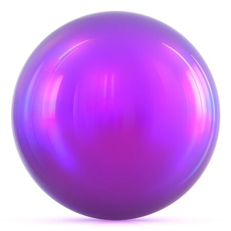 isolated object: Purple ball sphere round button basic circle geometric shape solid figure simple minimalistic atom element single blue drop shiny glossy sparkling object blank balloon icon. 3d illustration isolated