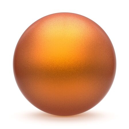 matted: Sphere round button orange yellow matted ball basic circle geometric shape solid figure simple minimalistic atom single drop object blank balloon design element empty. 3d render illustration isolated