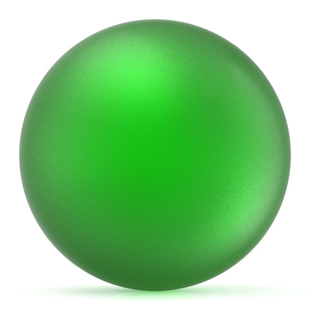basic figure: Green sphere round button ball basic matted circle geometric shape solid figure simple minimalistic atom single drop object blank balloon design element. 3D illustration isolated Stock Photo