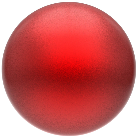 matted: Sphere round button ball red basic matted circle geometric shape solid scarlet figure simple minimalistic atom single drop object blank balloon icon design element. 3D render illustration isolated Stock Photo