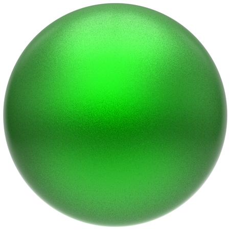 solid figure: Sfera rotondo verde pulsante palla base matita cerchio forma geometrica forma solida semplice minimalistic atomo singolo goccia oggetto vuoto palloncino distintivo elemento di design. Illustrazione 3D rendering isolato Archivio Fotografico