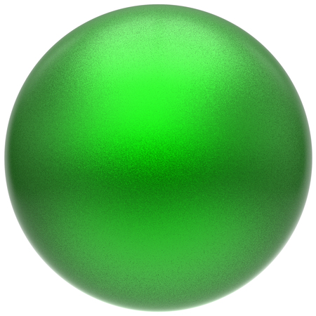 matted: Sphere round green button ball basic matted circle geometric shape solid figure simple minimalistic atom single drop object blank balloon badge design element. 3D render illustration isolated