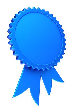 award ribbon blue reward medal rosette blank achievement badge