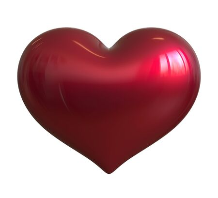 3d illustration of heart shape I Love You symbol classic red blank. Blood beat pulse design element concept Zdjęcie Seryjne