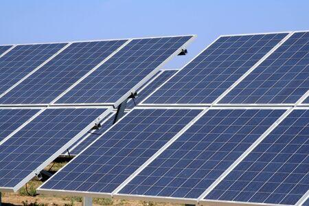 new installation of solar panels  photo