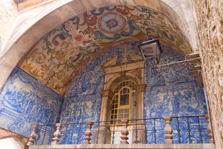 Azulejo on the city gates Óbidos photo