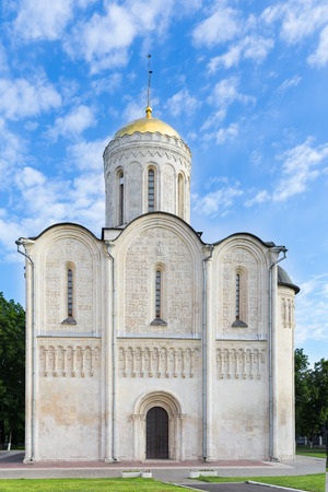 12th century: Dmitrovsky cathedral in Vladimir, 12th century. The Golden ring of Russia