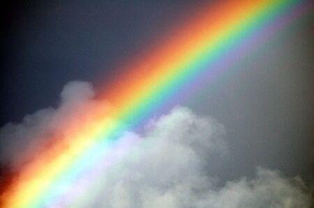 Rainbow en wolken