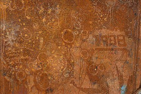 Grunge rust and graffiti background  Reklamní fotografie