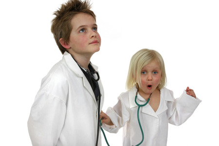 he   my sister: A boy and a girl disguising as doctors