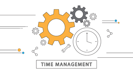 remain: simple line flat design modern vector background that remain the concept of time management Illustration