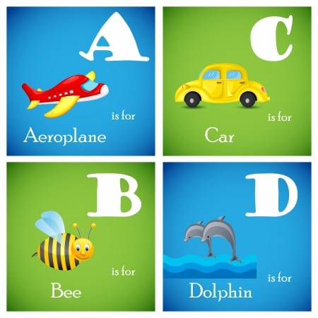 Alphabet set from A to D Stock Vector - 18627594