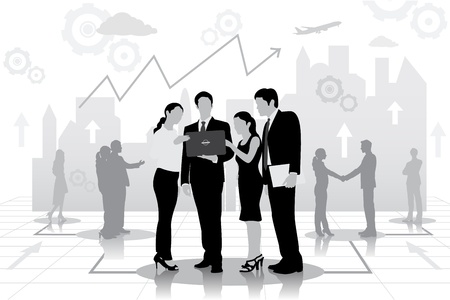 briefing:  Business Meeting Illustration