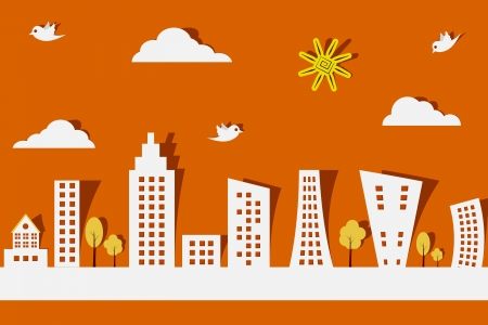 Miasto Paper Ilustracje wektorowe