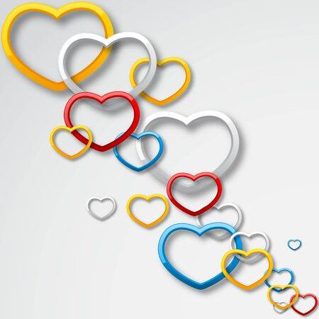edit valentine: Colorful Love Illustration