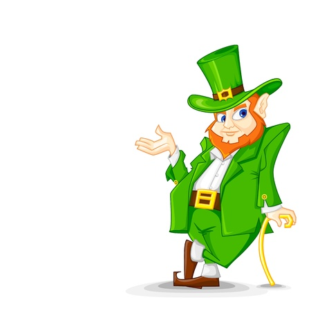 Laprachun on Saint Patrick s Day Vector