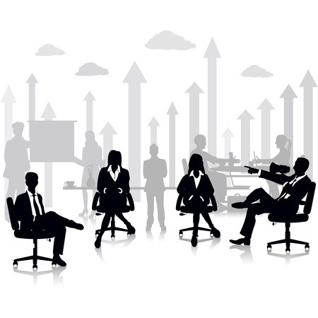 executive board: Business People in a Meeting