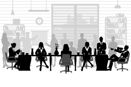 sala de reuniones: la gente de negocios en una reunión