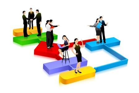 management process: Business Diagram Illustration