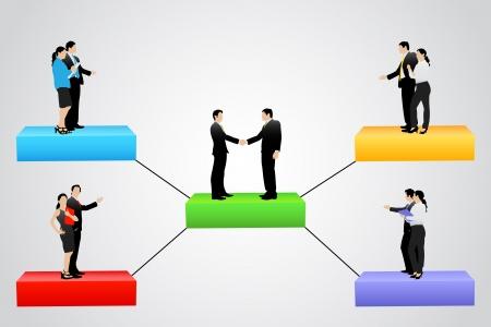 hi�rarchie: organisatie boom met verschillende hiërarchische niveau