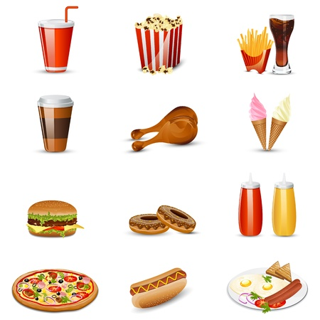 Fast Food item Vector