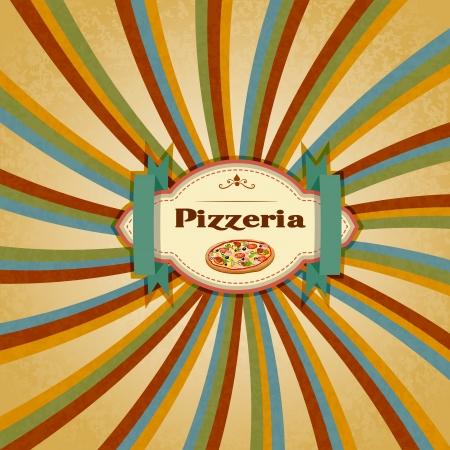 restaurante italiano: Men� de Pizza
