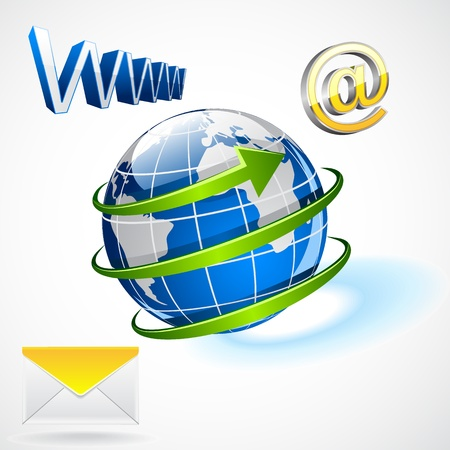 International e-mailing Vector