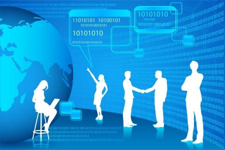 디지털: 기술 사람들 일러스트