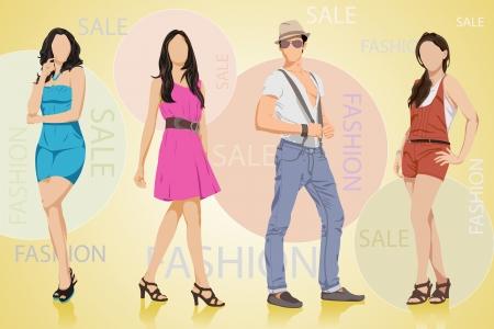 shopaholics: Fashion Sale Illustration